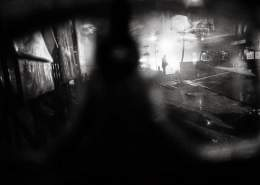The clashes seen through a gas mask of the kind used by the rioters, Ankara, 11/06/2013