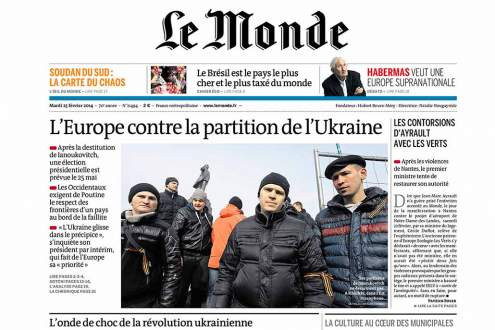 Le monde front page featured