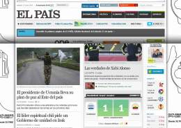 Cutting of El Pais frontpage