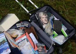 Belongings of passengers on Malaysia MH17 crash site