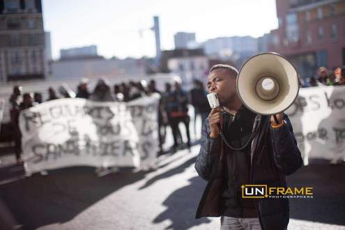 Rally for The Baras Collective, Bagnolet, France