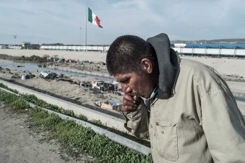 Adan lives en el Bordo where he was deported, Tijuana