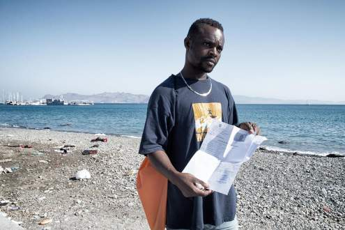 A refugee from Ivory Coast. Kos, Greece.