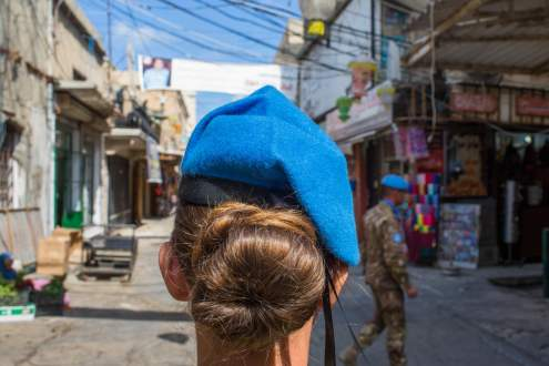Woman Soldier in Tyre.