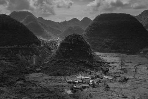 A small village located at the foot of a mountain in Ha Giang province