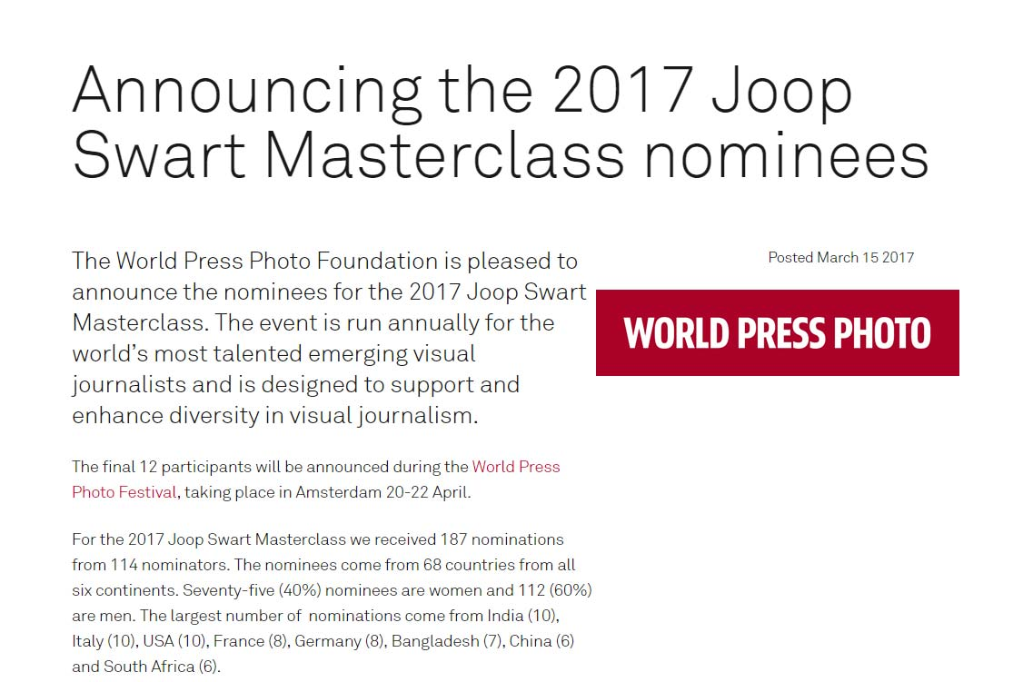 1229c930708 Artur Conka is nominee for the Joop Swart Masterclass - UnFrame