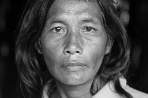 Portrait of a Mlabri woman